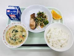 10月19日に保護者ふれあい給食でいただいた新木小学校の給食です